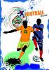ID 3079969 | Постер с футболистами | Иллюстрация большого размера | CLIPARTO