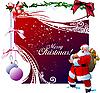 ID 3079979 | Rote Weihnachtskarte mit Santa Claus | Stock Vektorgrafik | CLIPARTO