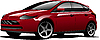 Vector clipart: Red-brown hatchback car