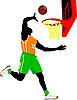ID 3080038 | Basketball-Spieler | Stock Vektorgrafik | CLIPARTO