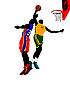 ID 3080085 | Баскетболисты | Иллюстрация большого размера | CLIPARTO