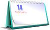 ID 3080105 | Tischkalender. 14. Februar. Valentinstag | Stock Vektorgrafik | CLIPARTO