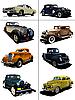 Acht alte Autos