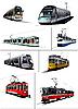 Vector clipart: Trams