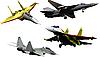 ID 3106050 | Cztery samoloty wojskowe | Stockowa ilustracja wysokiej rozdzielczości | KLIPARTO