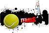 Tennis-Plakat im Grunge-Stil