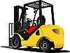 Vector clipart: Lift truck. Forklift