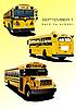 Gelbe Schulbusse