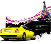 Gelbes Auto in Paris