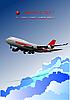 ID 3175266 | Poster mit Passagierflugzeug | Stock Vektorgrafik | CLIPARTO