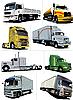 acht Lastwagen
