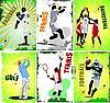 sechs Sport-Poster