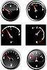 Set von sechs Auto-Benzinanzeigern
