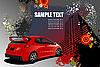 Grunge hallo-Tech Plakat mit roten Auto