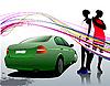 Auto und zwei Mädchen