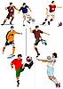 ID 3183125 | Футболисты | Иллюстрация большого размера | CLIPARTO