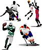 ID 3189547 | Cztery rodzaje gry sportowe zespołu | Klipart wektorowy | KLIPARTO