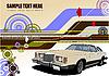 abstrakter hallo-Tech Hintergrund mit Retro-Auto