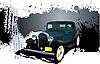 Grunge-Poster mit dem Vintage-Auto