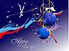 雪花,时钟和球。圣诞节。新年 | 向量插图