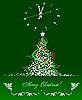 Weihnachten - Neujahr Baum mit Uhr.