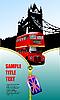 ID 3209863 | Plakat z zamkiem błyskawicznym i piętrowy autobus | Klipart wektorowy | KLIPARTO