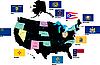 ID 3210566 | Flaggen von US-Staaten | Illustration mit hoher Auflösung | CLIPARTO