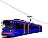 Vector clipart: City transport. Tram.