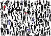 100 Menschen, Silhouetten