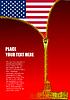 Reißverschluss zu öffnen USA Flagge
