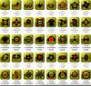 Sammlung von Logos und Icons