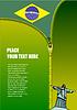 Reißverschluss zu öffnen brasilianische Flagge
