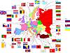 Landkarte von Europa mit Flaggen