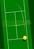 Tennisplatz mit Ball dient