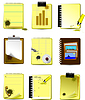 Neun Büro und Business Icons