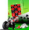 Casino-Elemente mit Motorrad