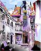 Mittelalterliche europäische Altstadt