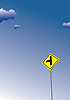Überqueren Sie Verkehrsschild. Verkehr Verkehrsschild Symbol