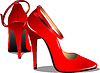 rotes modesches Paar Frauen-Schuhe