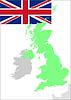 Großbritannien Flagge und Karte