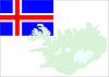 Island-Karte und Flagge
