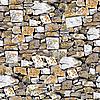 无缝石头墙背景 | 免版税照片