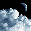 달과 구름 | Stock Foto