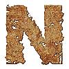 Rostiger Buchstabe N | Stock Foto