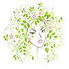 Девушка-весна | Векторный клипарт