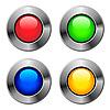 ID 3051456 | Metalowe okrągłe przyciski | Klipart wektorowy | KLIPARTO