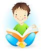 Lesender Junge