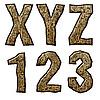 ID 3075508 | 木制的首字母和数字 | 高分辨率插图 | CLIPARTO