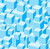 Vektor Cliparts: Blaues nahtloses Muster von Boxen