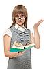 ID 3050723 | 年轻的女孩读英语书 | 高分辨率照片 | CLIPARTO
